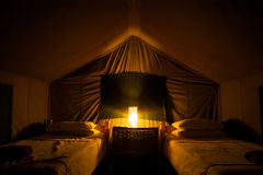 Campsite in Botswana Stock Image