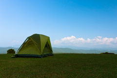 Campsite, camping tent. Royalty Free Stock Photos