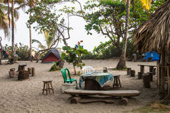 Campsite in Colombia Stock Photo