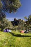 Campsite, Corte, Córsega Fotografia de Stock Royalty Free