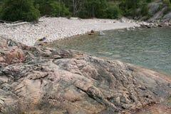 Campsite da região selvagem do superior de lago foto de stock