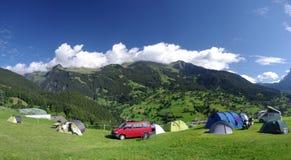 Campsite de Grindelwald imagens de stock royalty free