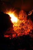 Campsite Fire Pit Stock Photo