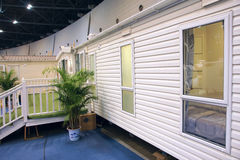 Campsite houses exhibition Royalty Free Stock Images