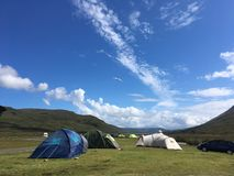 Campsite on the Isle of Skye royalty free stock photos