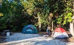 Campsite - John Pennekamp Coral Reef State Park - Florida. Two tents at campsite in John Pennekamp Coral Reef State Park in Key Largo, FL, the first underwater stock photos
