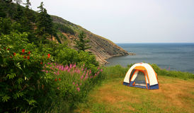 Campsite at Meat Cove. Nova Scotia. Canada royalty free stock photos