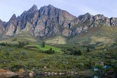 Campsite nas montanhas de Cederberg Fotos de Stock Royalty Free