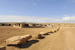 Campsite in Negev desert. Stock Photo