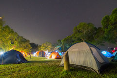 Campsite at Night Stock Photos