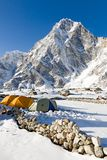Campsite over looked by Arakam Tse Stock Photos
