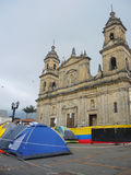 Campsite for the Peace, in Bogota, Colombia. Royalty Free Stock Photo