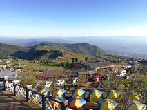 The campsite on Phu Thap Boek in the morning is warm. royalty free stock photos