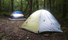 Campsite after a rain Stock Image