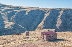 Campsite on the rim of the extinct Brukkaros volcano Stock Image