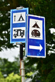 Campsite road signs Stock Photography