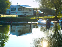 Campsite scene stock image