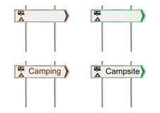Campsite sign Royalty Free Stock Image
