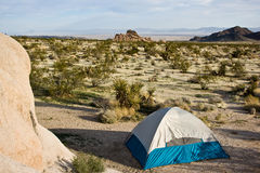 Campsite - sosta nazionale dell'albero di Joshua fotografie stock libere da diritti
