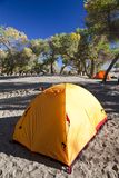Campsite with Tent Royalty Free Stock Images