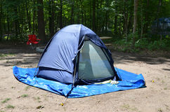 Campsite tent. Campsite showing tent among trees stock photography
