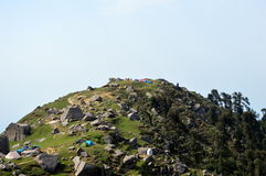 Campsite on top of Triund Royalty Free Stock Images