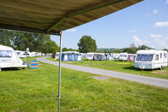 Campsite in Wales UK. Camping on Aberystwyth Holiday Village Wales UK Royalty Free Stock Images