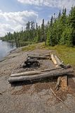 Campsite in the Wilderness. On Ham Lake in the Boundary Waters in Minnesota Stock Images