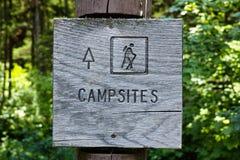 Campsites Sign Stock Photos