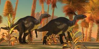 Camptosaurusdinosaurussen stock illustratie