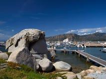 Campulongu, Villasimius, puerto, Cerdeña fotos de archivo libres de regalías