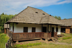Campulung Moldovenesc House - Suceava Village Museum. Traditional Romanian house common in the area of Campulung moldovenesc, Suceava county, Bucovina Stock Images