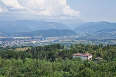Campulung. Top view landscape Royalty Free Stock Image