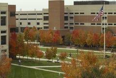 Campus americano de la universidad Fotos de archivo