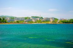 Campus auf der Insel, russische Ferner Osten Bundesuniversität-cc$fefu, lizenzfreie stockbilder