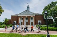 Campus-Ausflug - Universität John Hopkins - Baltimore, MD stockfotografie