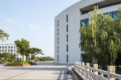 The campus beautiful scenery royalty free stock image