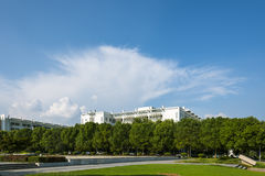The campus beautiful scenery stock image