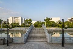 The campus beautiful scenery royalty free stock photography