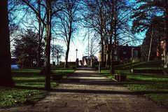 Campus. Birmingham City university campus bournville West Midlands higher education grounds royalty free stock photos