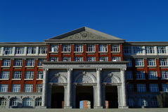 Campus building. Building on a college campus in china stock image