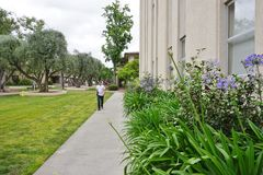 The campus of Caltech (California Institute of Technology). PASADENA, CA -The campus of Caltech (California Institute of Technology) in California. Home to many Stock Photos