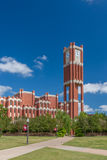 Campus Clock Tower and Bizzel Memorial Library Royalty Free Stock Photos