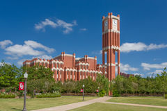 Campus Clock Tower and Bizzel Memorial Library Royalty Free Stock Photography