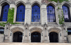 Campus d'Université Northwestern - détail de bâtiment Image stock