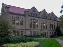 Campus d'université d'Oberlin en Ohio photo libre de droits