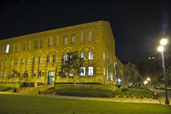 Campus de la escuela en la noche Fotos de archivo