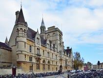 Campus de la Universidad de Oxford, universidad de Balliol Imagen de archivo libre de regalías
