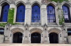 Campus de Universidad Northwestern - detalle del edificio Imagen de archivo