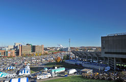 Campus de WVU - le football gameday Photographie stock